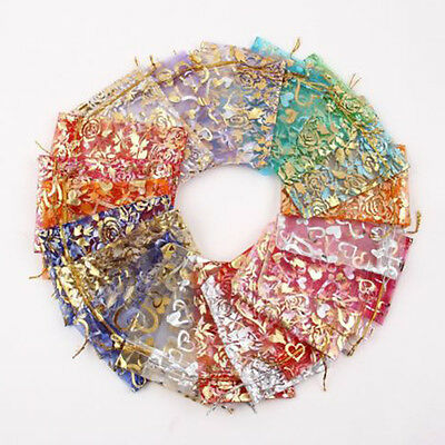 Candy Bags (100 PCS Organza Jewelry Candy Gift Pouch Bags Wedding Party Xmas Favors Decor4FR)