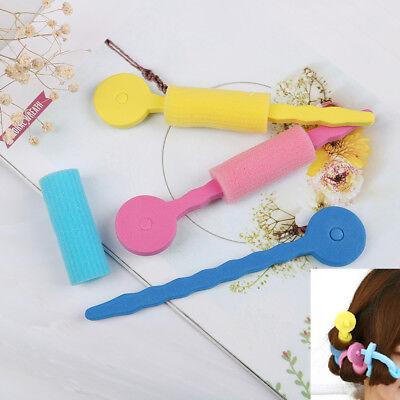 3Pcs Soft foam sponge DIY styling hair rollers rods flexible hairstyling curl ES