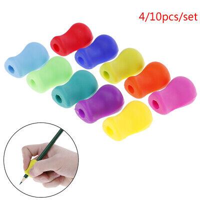 4/10pcs Pencil Grip Tool Soft Rubber Pen Topper For Kid Handwriting Aid UsefulOJ