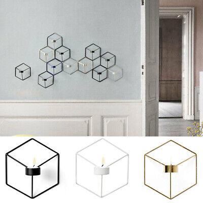 3 Kerze Wandleuchte (3D Geometrische Kerzenständer Metall Wand Kerzenhalter Wandleuchte Wohnkultur UE)