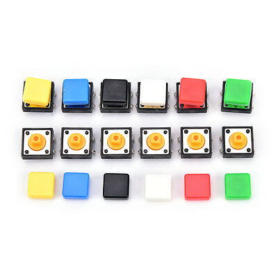 20pcs Tactile Push Button Switch Momentary Micro Switch Button Tact Cap Jc G3