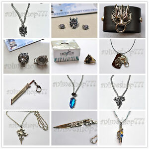 Final-Fantasy-VII-VIII-X-XIII-Cloud-Squall-Tidus-Yuna-Lightning-Cosplay-Necklace
