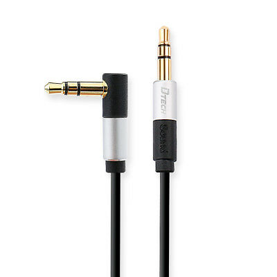(DTECH 5ft Right Angle 3.5mm Audio Cable 90 Degree Adapter Male to Male Aux Plug)