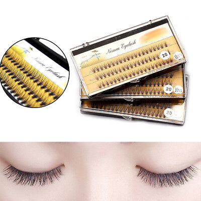 Individual 3D Wave Mink Black Silk Eyelashes Extension False Eye Lashes Best