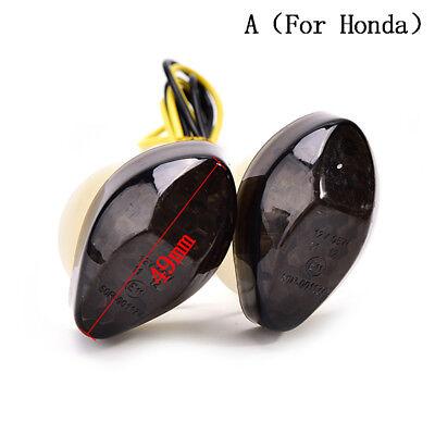 1 Pair Motorcycle Smoke Flush Mount 15LED Turn Signal Light Blinker For  (Flush Mount Motorcycle Turn Signals)