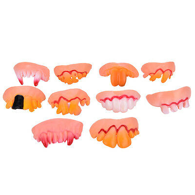 Funny Costumes For Teens (Halloween Funny Joke Teeth Fun Brace Face Gag Costume Nerd For Kids and Teen)