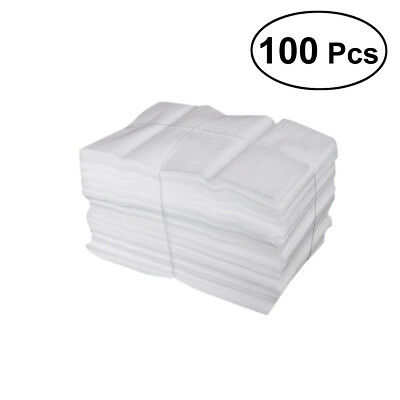 100 Pcs Foam Pouches Epe Foam Wrap Sheets For Packing Shipping -25x30cm White
