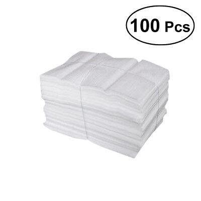 100 Pcs Foam Pouches Epe Foam Wrap Sheets For Packing Shipping -25x30cm White