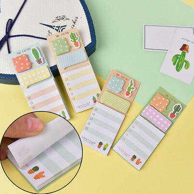 Cactus Kawaii Memo Pad Sticky Notes Cute Office Supplies Bookmark Paper Stcm