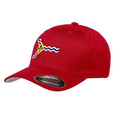 St. Louis Flag Flexfit Premium Classic Yupoong Wooly Combed Hat Missouri 6277