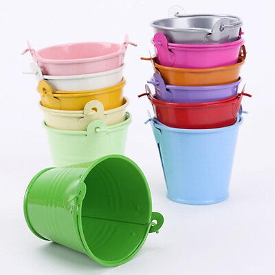 Mini Metal Colorful Bucket Candy Keg Pails Wedding Party Favor Decoration DIY .. - Colored Metal Buckets