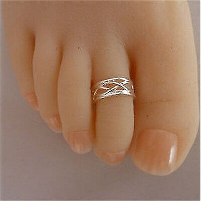 2016 Celebrity Fashion Simple Sliver Plated Adjustable Toe Ring Foot Jewelry DG