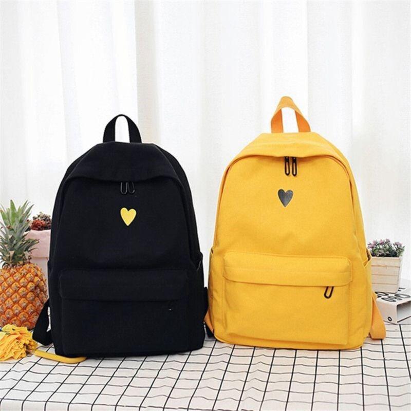 Backpack Women Canvas Travel Bookbag School Bag Laptop Rucks