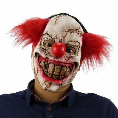 Evil Joker Mask (Halloween Joker Clown Mask Creepy Evil Scary Ghost Cosplay Costume Ugly Face)