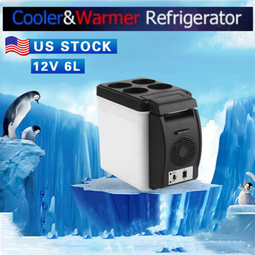 Portable 12V Cooler Warmer Car Fridge Travel Refrigerator El