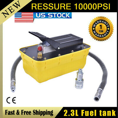 Air Powered Hydraulic Foot Pump 10,000 PSI Hydraulic Foot pedal Power pump