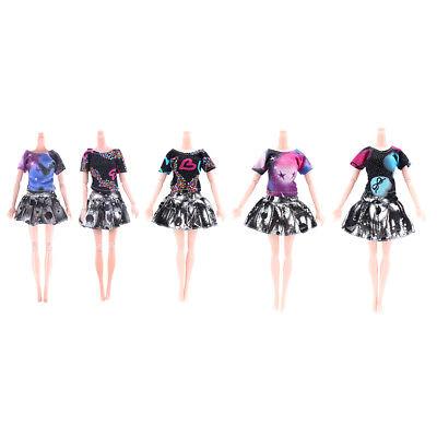 2 Pcs/Set Handmade Fashion Clothes Dress For  Doll Gift Color Random