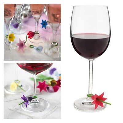 Wine Glass Markers/ Charms. Cup Identification. Silicone Tag. Fast Free -