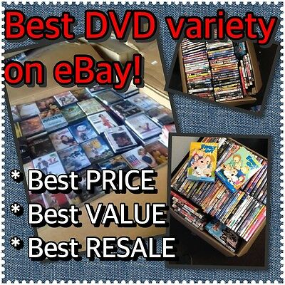 Wholesale Lot of 50 Used Assorted Bulk DVDs Original Movies Free S&H Best Buy!!!
