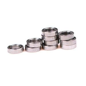 10x Newest MR74z 4x7x2mm Open Miniature Bearings ball Mini Hand Bearing Spin XU