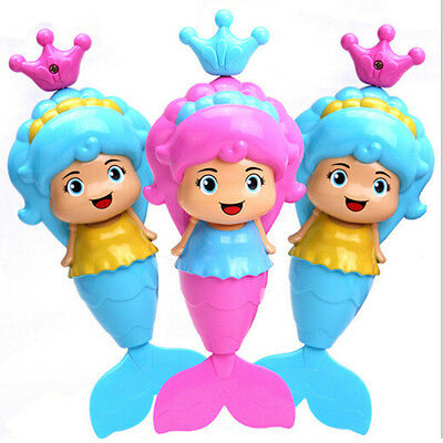 Baby Kids Mermaid Clockwork Dabbling Bath Toy Classic Swimming Water Wind Up BR