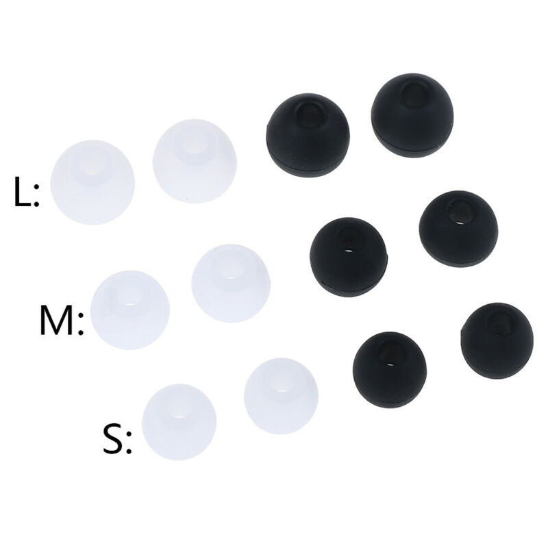 6 Pairs/2 S M L Universal In-ear Earphone Headphoe Earbuds Silicone Rubber SL - $4.11
