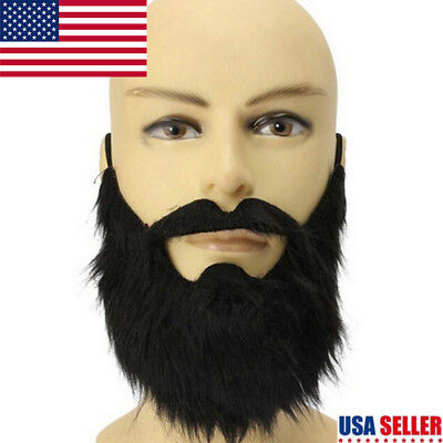 Funny Costume Party Halloween Beard Moustache Mustache Facial Hair Disguise RS