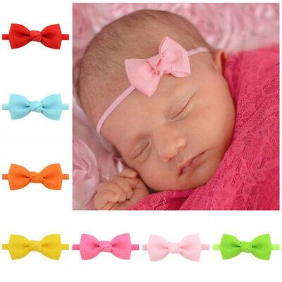 5 Mixed Bowknot Mini Stirnbänder Baby Mädchen Haarschmuck Neugeborenen Haarba