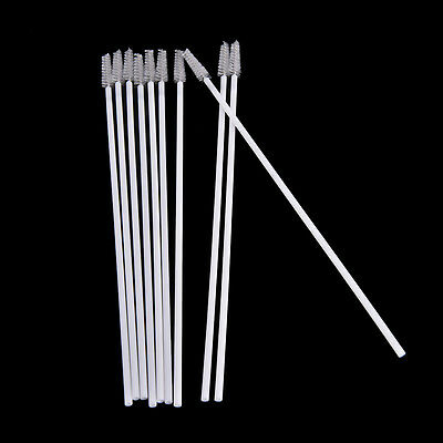 10pcs Stainless Steel Straw Reusable Washable Cleaner Cleaning Brush PR