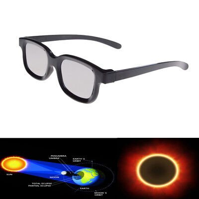 Solar Eclipse Glasses 2017 Black Frame Sun Plastic Eyeglasses Adult Safe  Ifh