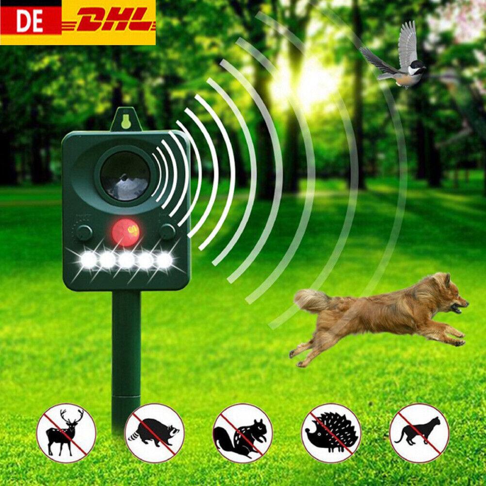 Solar Ultraschall Katzenschreck Tiervertreiber Abwehr Gegen Mäuse Hund Fuchs DE