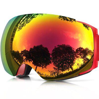 bb4f8d497f9 ZIONOR X4 Ski Snowboard Snow Goggles Magnet Dual Layers Lens UV Spherical   NEW