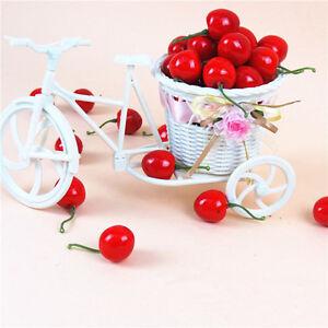 20Pcs Artificial Fake Cherry Fruit Food Wedding Party House Decorative Decor EZX