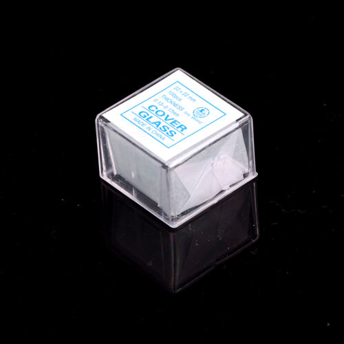 100 pcs Glass Micro Cover Slips 22x22mm - Microscope Slide Covers RSJKUST2P