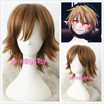 BEN DROWNED Cosplay Wig Halloween Short Brown Synthetic Hair Full Wig +a wig cap - Brown Halloween Wig