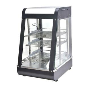 15  Commercial Food Warmer Court Heat Food pizza Display Warmer Cabinet Glass - FREE SHIPPING