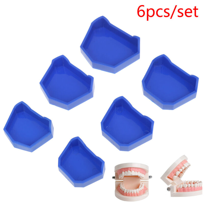 6pcs/3Sets S/M/L Dental Lab Model Base Former Molds Tray Loading with NotNW.p