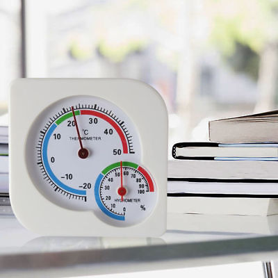 Humidity Thermometer - Analog Indoor/Outdoor Thermometer Hygrometer Meter Temperature Humidity reptile