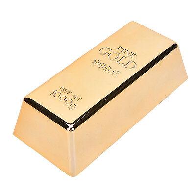 1 Pcs Gold Bar Bullion Door Stop Fake Gold Bar Bullion Door Stop/Paperweight HI
