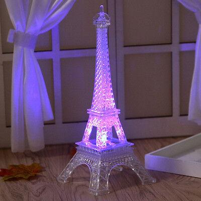 Paris Eiffel Tower Model Statue Creative Home Desk Decor Lamp Light Gift