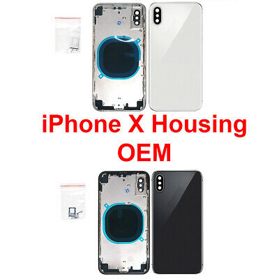 OEM Replacement Back Housing Frame Battery Glass Door Cover FOR iPhone X New -