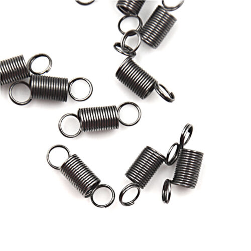 10PCS 15mm Stainless Steel small Tension Spring With Hook For Tensile DIY RCUS