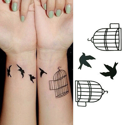 Art Tatoo bird  Removable waterproof Tattoo Stickers Temporary Tab Pip LA