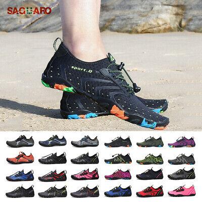 Water Shoes Men Women Skin Socks Aqua Surf Mesh Beach Yoga Swim Barefoot Lace Up