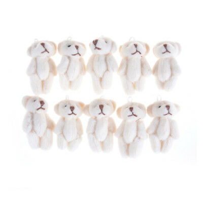 5Pcs 3.0cm Lovely Mini Joint Bear Plush Wedding Box Toy Doll Garment Decor TS (Ts Love Doll)