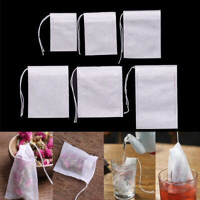 100Pcs Non-woven Empty Teabags String Heat Seal Filter Paper Herb Tea Bags NIUS - Paper Tea Filters