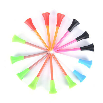 50 x Multi Color Plastic Golf Tees 72mm Durable Rubber Cushion Top Golf Tee*ws