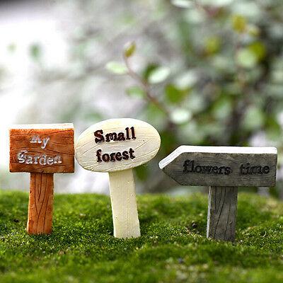 3 STÜCKE Schild Mini Garten Moos Terrarium Bonsai Figuren Micro Landschaft GG