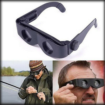Portable Glasses Style Magnifier Telescope Binoculars for Fishing Hiking Sport !