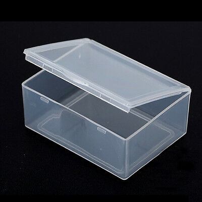 5x Clear Plastic Storage Box Collection Container Case Part Box - Clear Storage